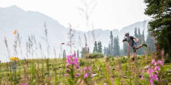 Image of a person playing disc golf at A-Basin in Colorado