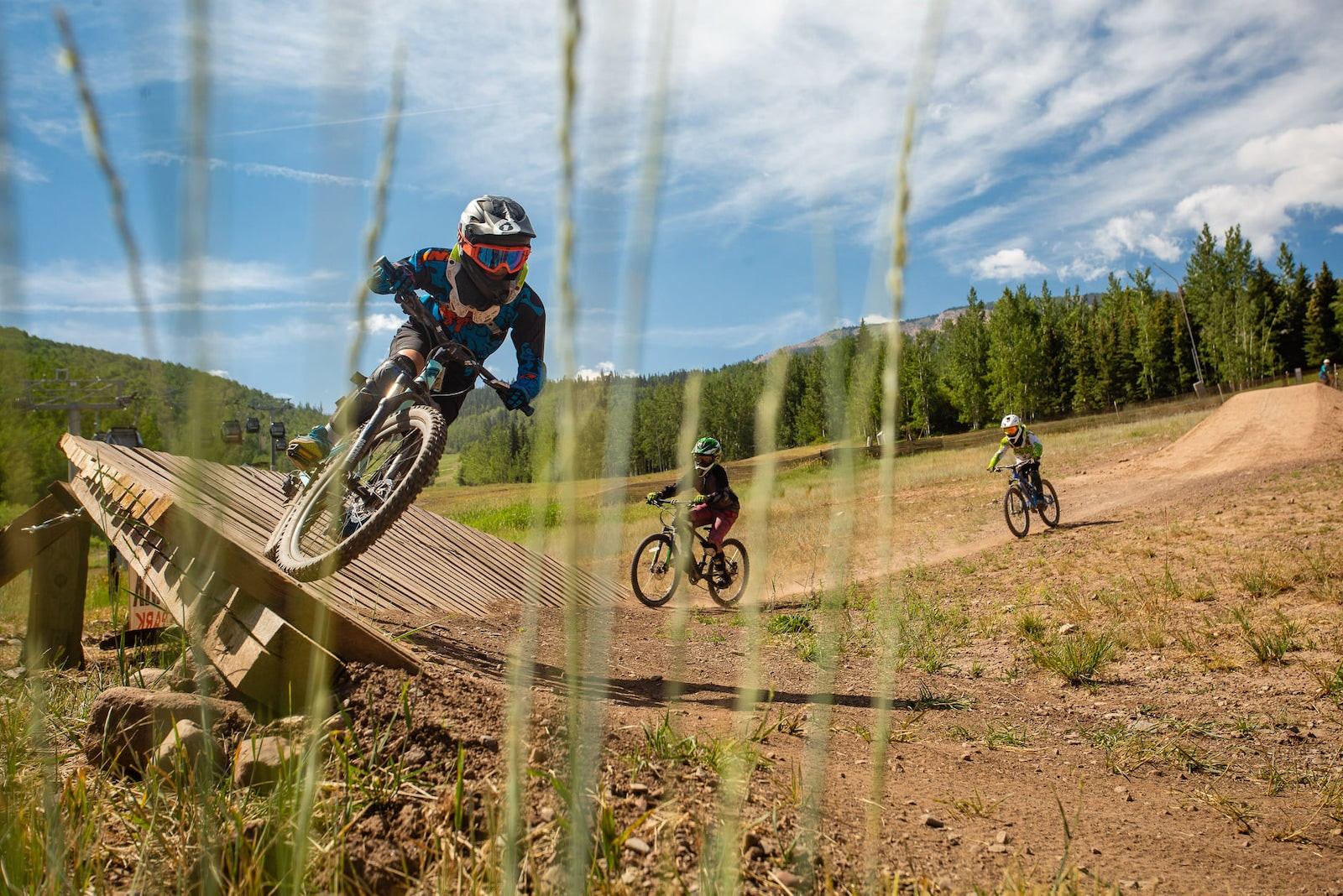 Image of people mountain biking at Aspen Snowmass in Colorado