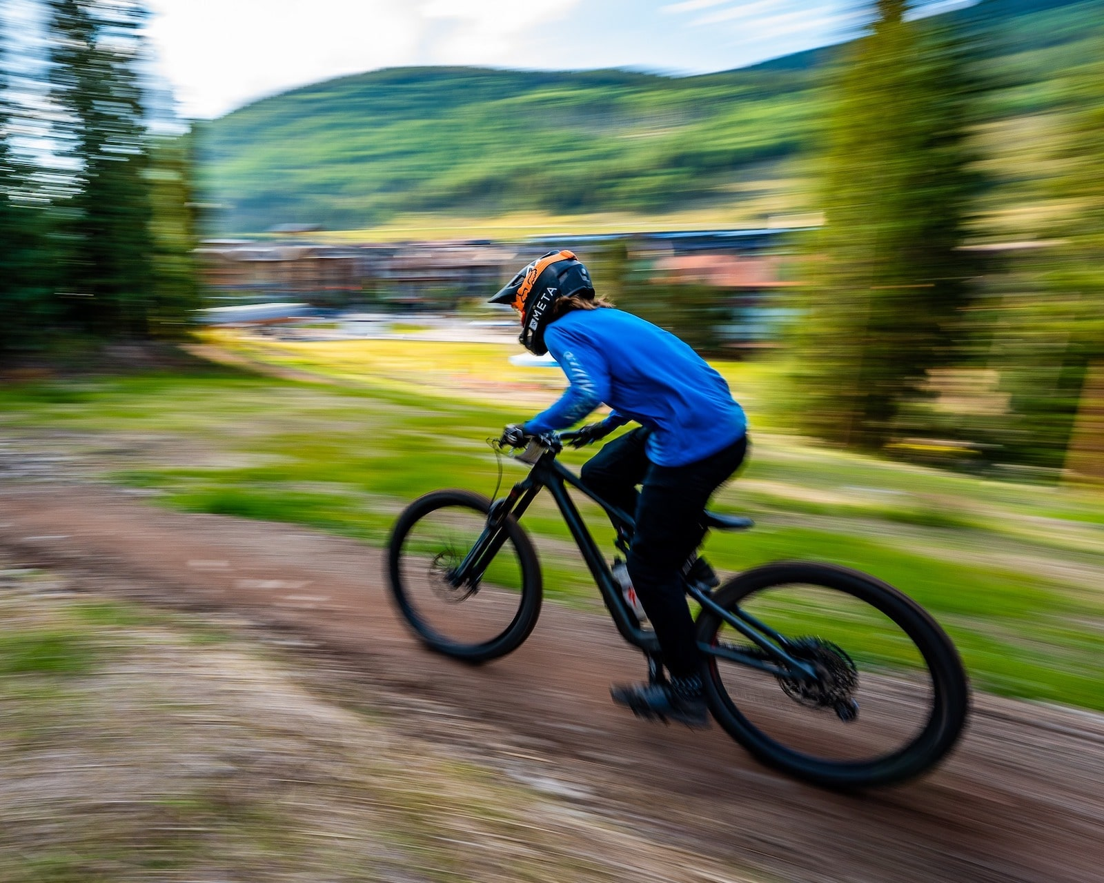 Image of a person mountain biking at Copper Mountain in Colorado