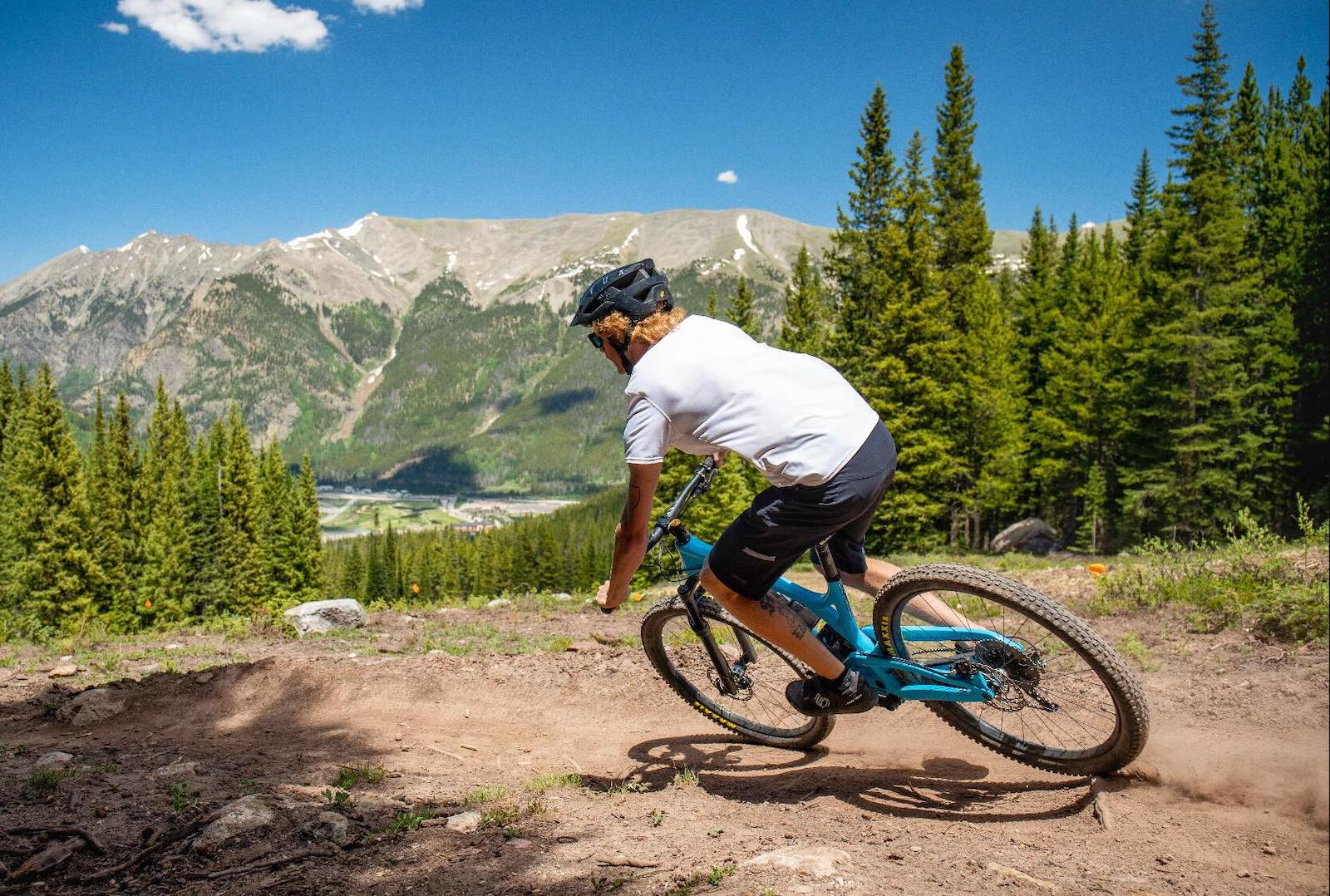 Image of a person biking at Copper Mountain in Colorado