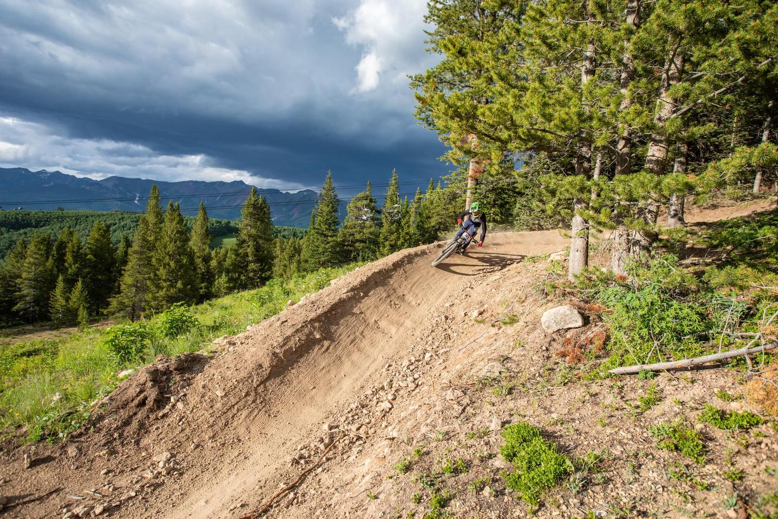Image of a person mountain biking at Crested Butte Ski Resort in Colorado