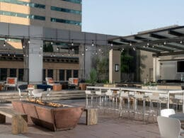 Image of an outdoor area at the Four Seasons Hotel Denver in Colorado