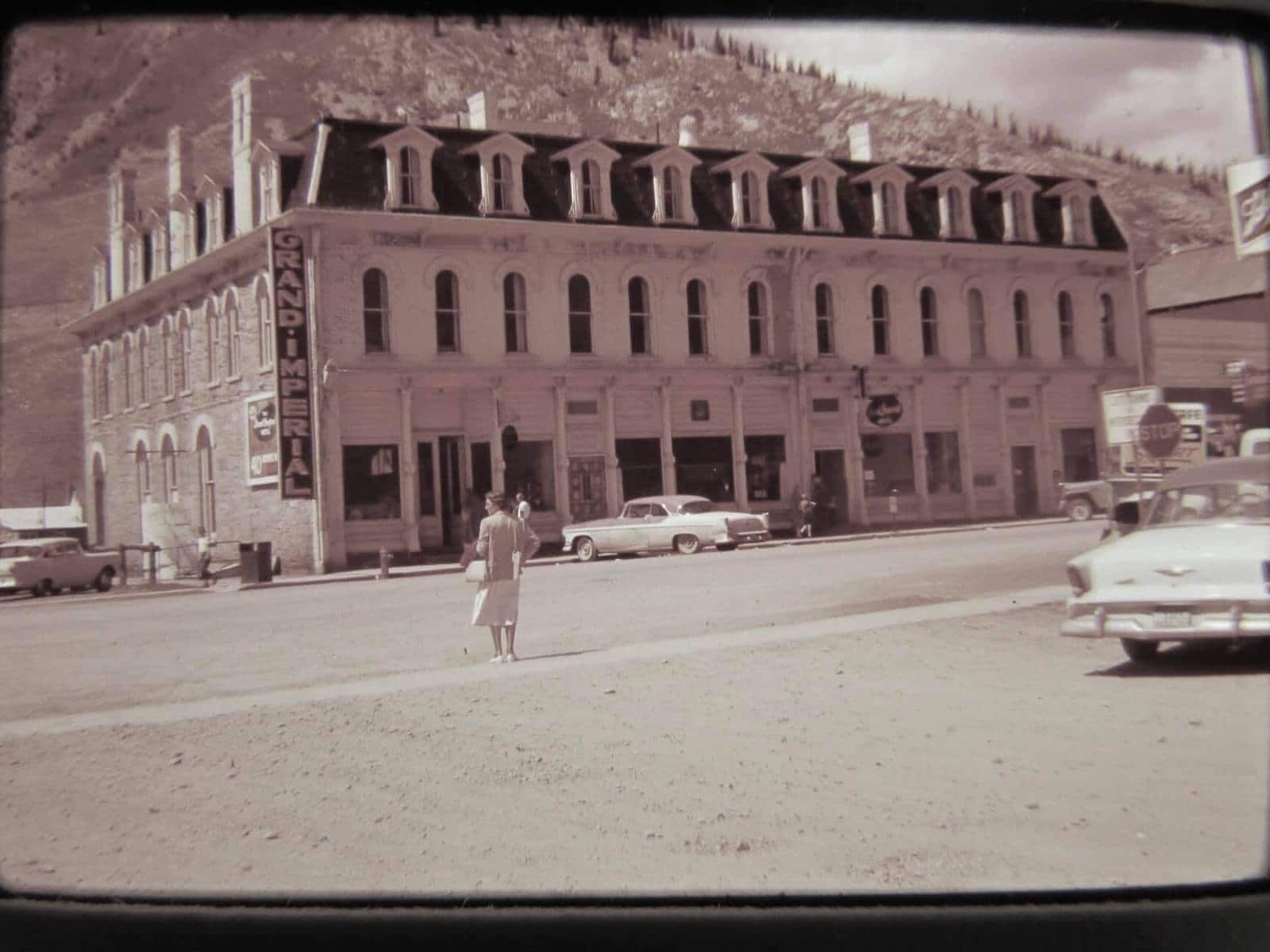 Image of the Grand Imperial Hotel in 1959 in Silverton, CO