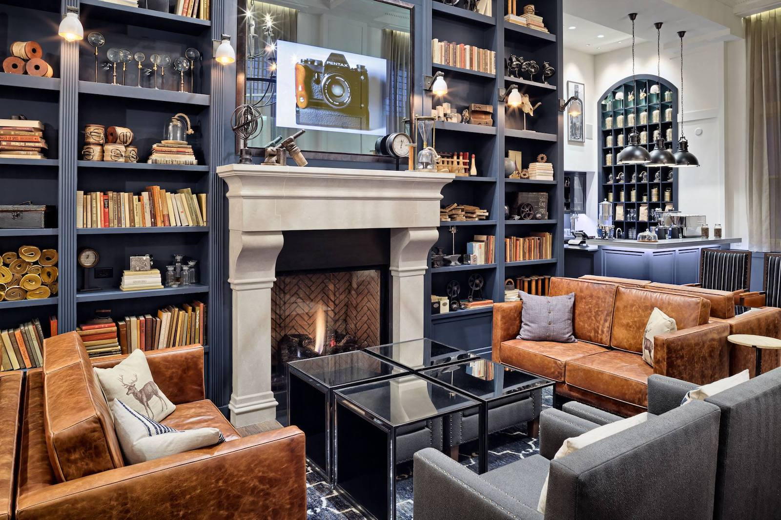 Image of a sitting area at Hotel Teatro in Denver, CO