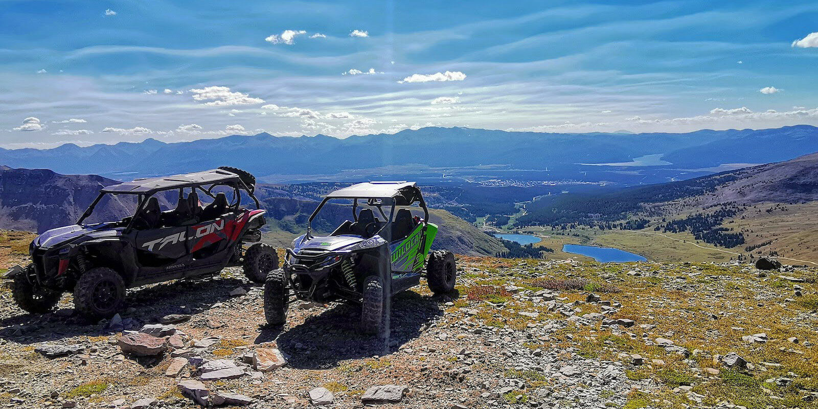 Image of two of Leadville ATV and Snowbike Tours ATVs