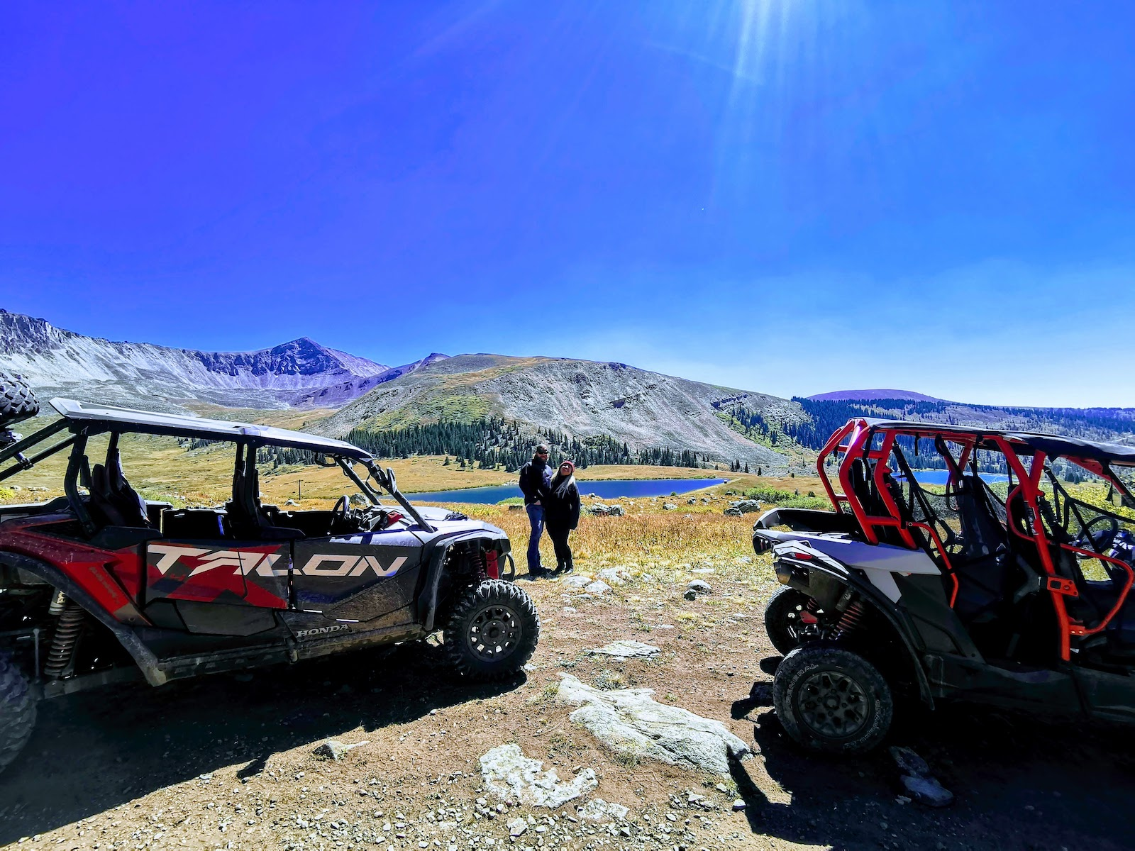 Image of a couple with two atvs in Leadville, Colorado