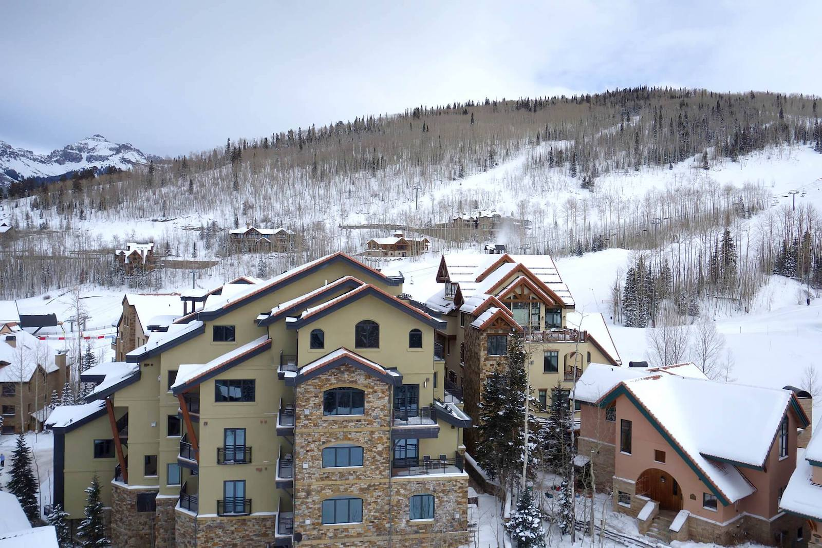 Image of the slopes behind the Lumiere in Telluride, Colorado