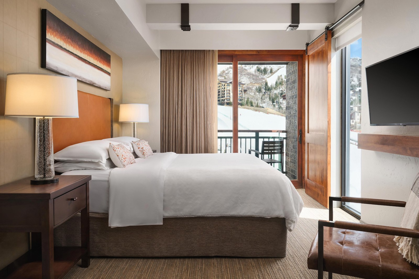 Image of a mountain view one-bedroom villa at the Sheraton Steamboat Resort Villas in Colorado