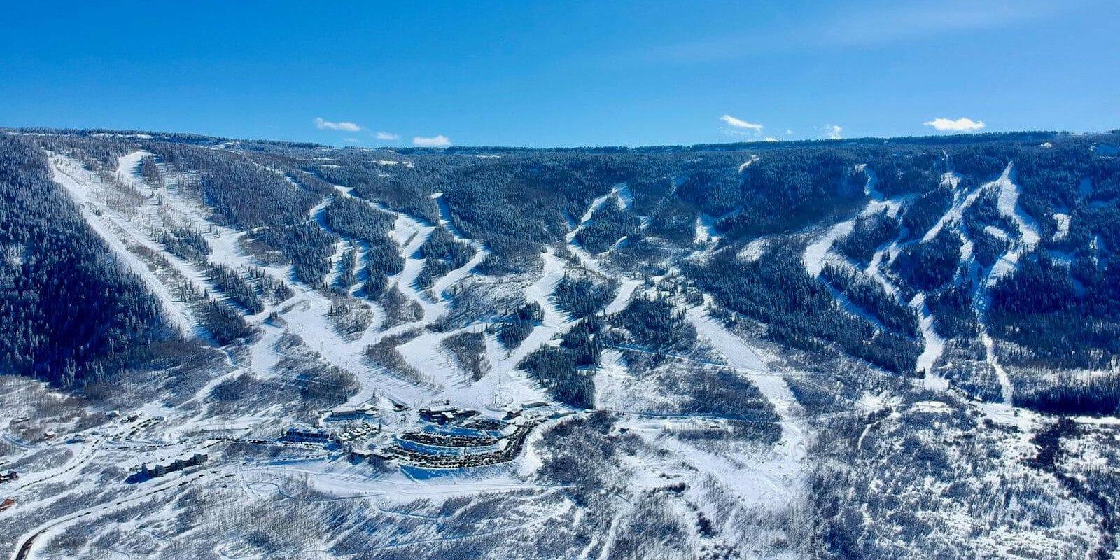 Image of the slopes at Powderhorn Resort