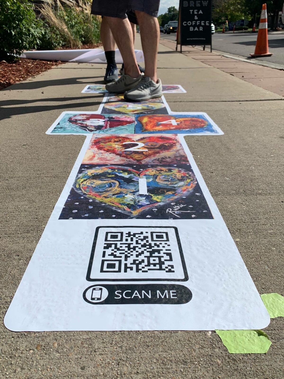 Image of a Project Hopscotch QR in Lafayette, CO