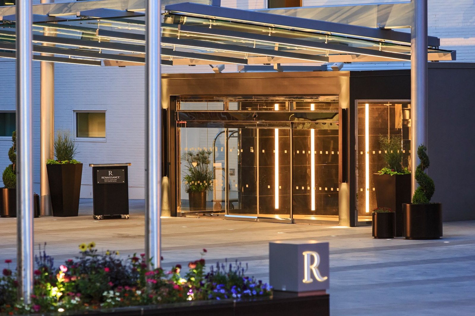 Image of the entrance at the Renaissance Denver Downtown City Center Hotel in Colorado