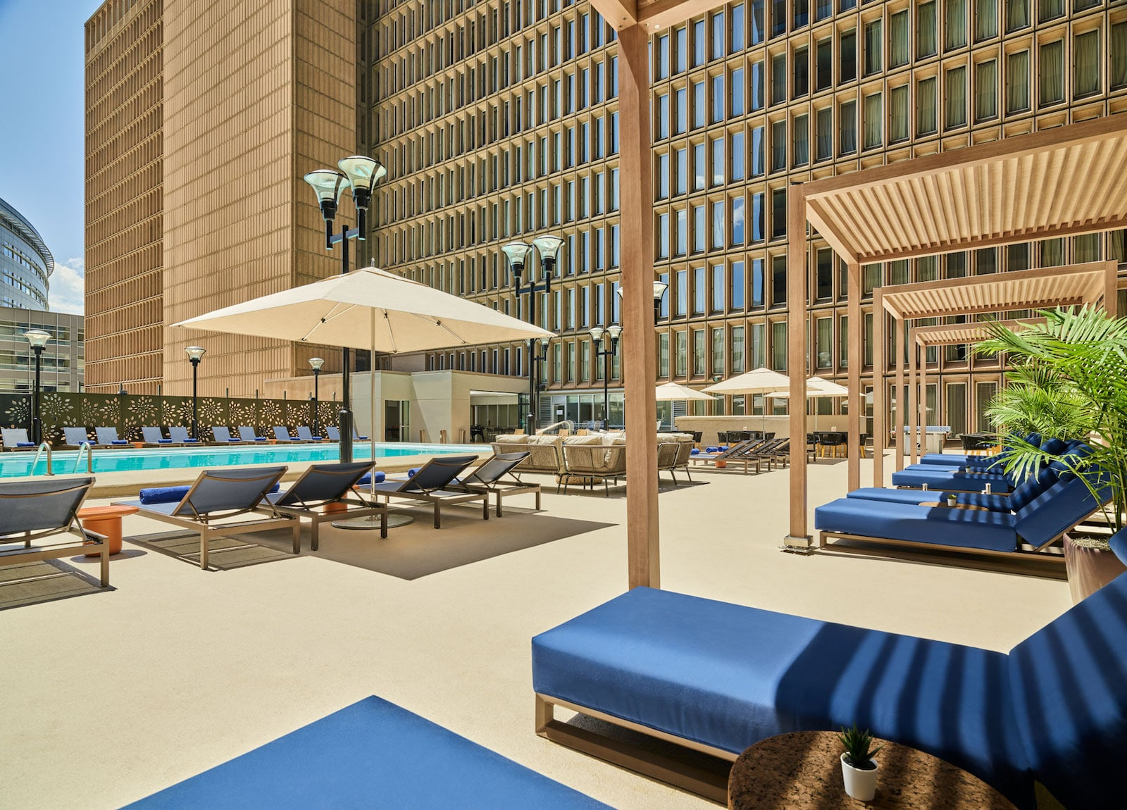 Image of the pool at the Sheraton Downtown Denver Hotel in Colorado