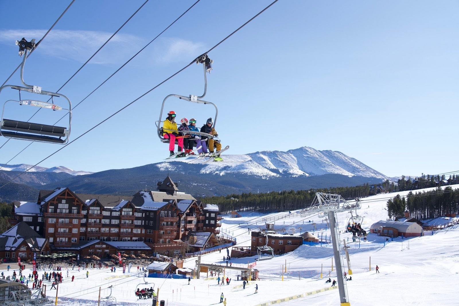 Image of Ski Hill Grill and the slopes in Breckenridge.