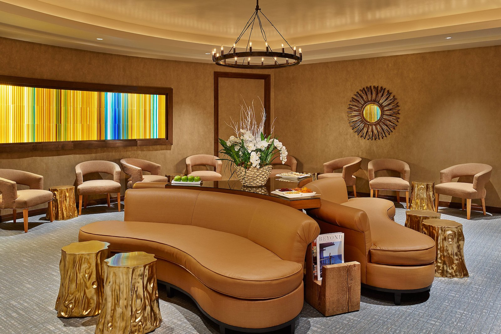 Image of the Relaxation Lounge at that St. Regis in Aspen, Colorado