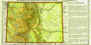 Territory of Colorado 1861 Map