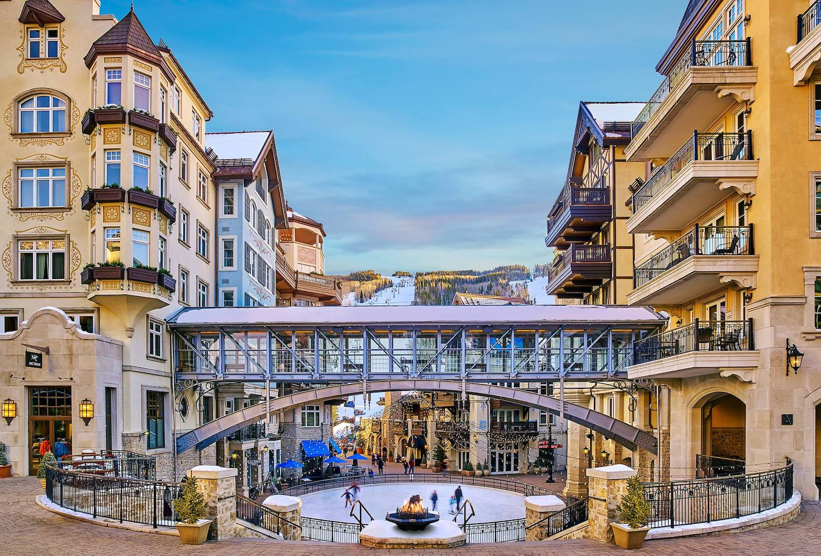 Image of the ice rink outside of The Arrabelle in Vail, CO