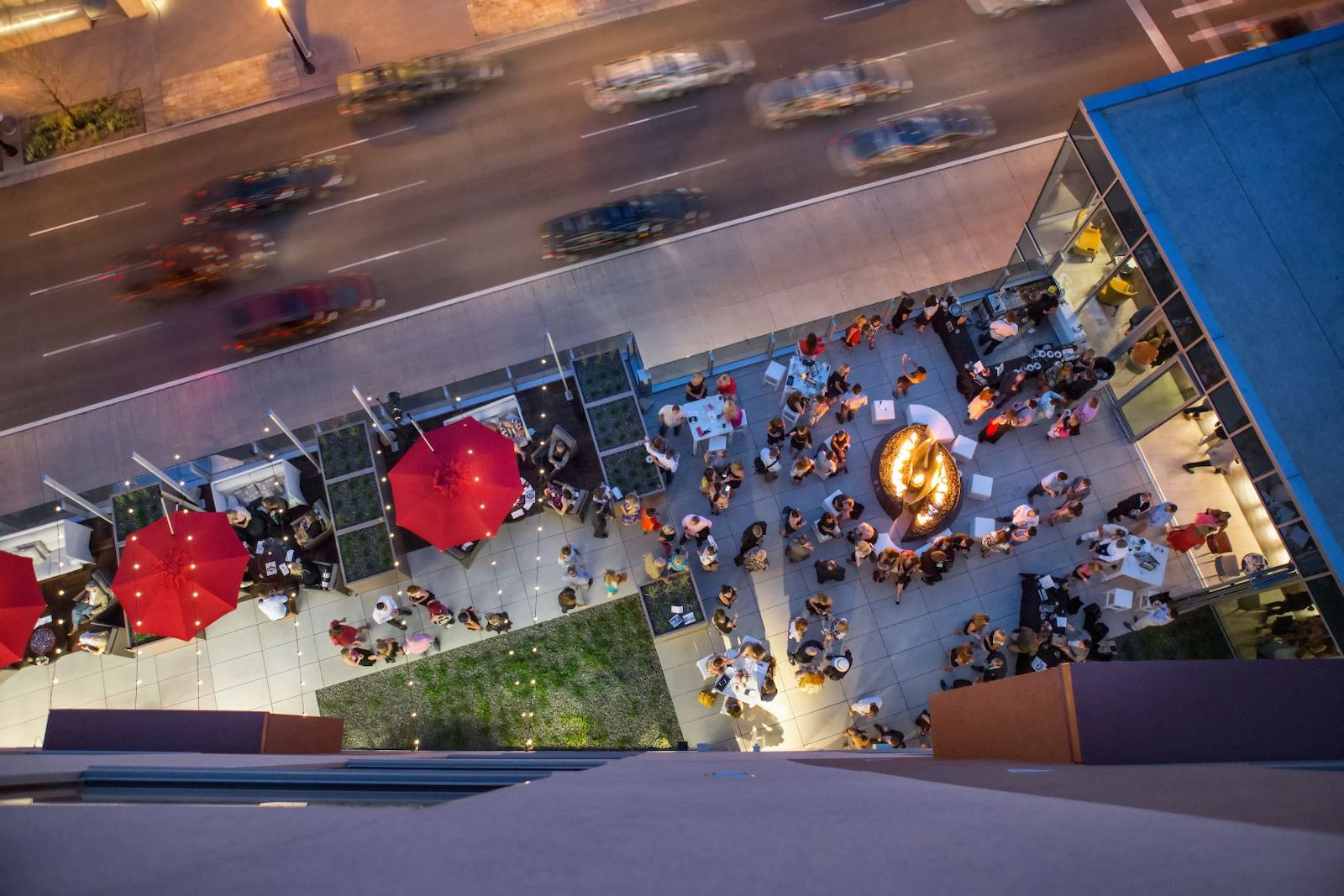 Image of the rooftop at the Art, a hotel in Denver, Colorado