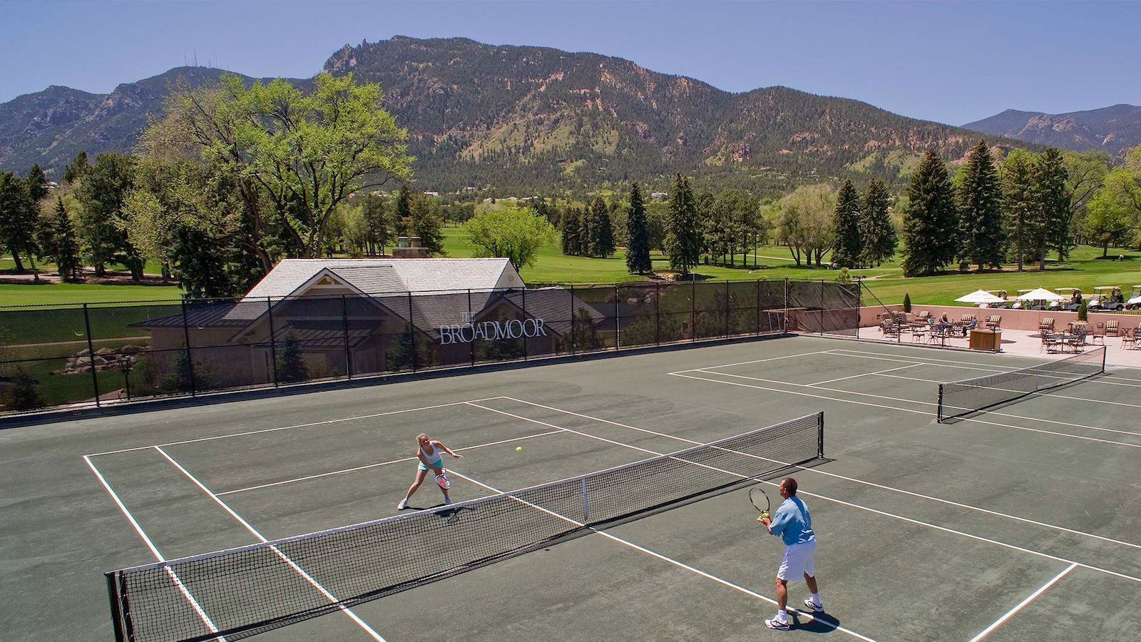 Image of the tennis courts at  The Broadmoor in Colorado Springs