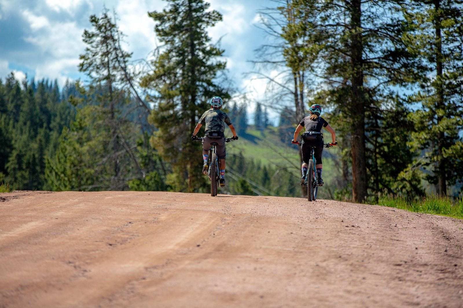 Image of people mountain biking at Vail Ski Resort in Colorado
